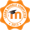 """Learn Moodle completer 2013"" Badge"